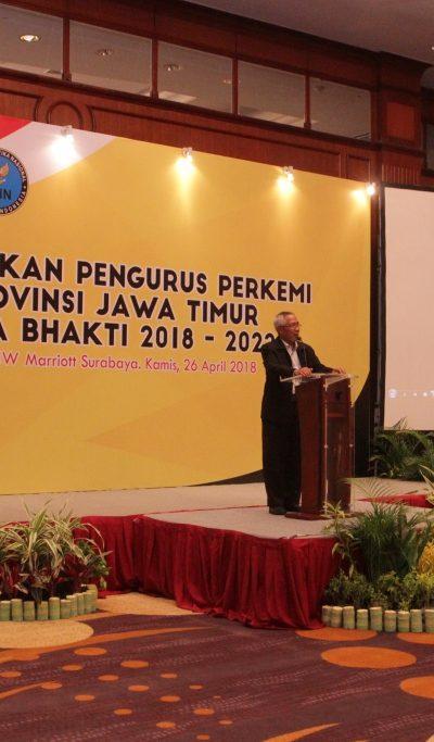Sambutan Ketua Umum BAPOMI Jatim pada Pelantikan Pengurus PERKEMI provinsi Jatim