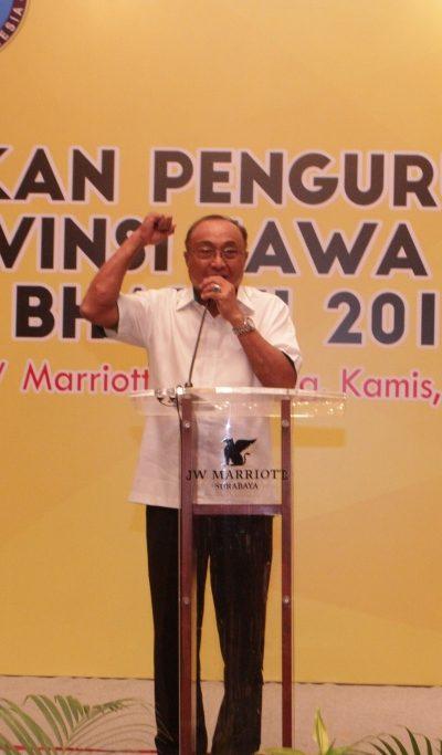 Sambutan Perwakilan KONI Jawa Timur pada Pelantikan Pengurus PERKEMI provinsi Jatim