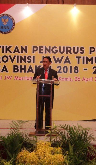 Sambutan Wakil Ketua Umum 1 PB PERKEMI Pusat Ss. dr. Maridi Kartasasmita pada Pelantikan Pengurus PERKEMI provinsi Jatim